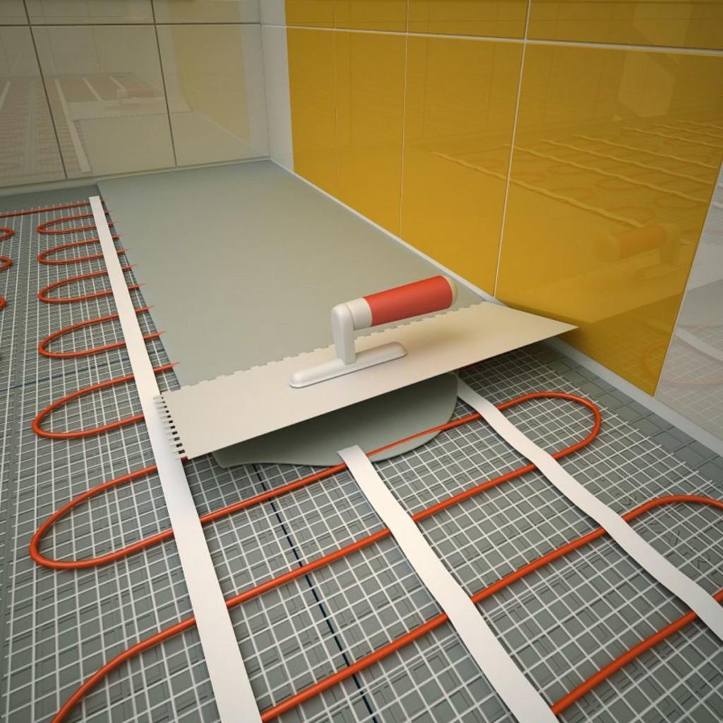 Укладка плитки на электрический теплый пол своими руками