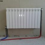 Установка радиаторов биметаллических  отопления