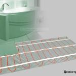 Схема монтажа электрического тёплого пола4 санузел